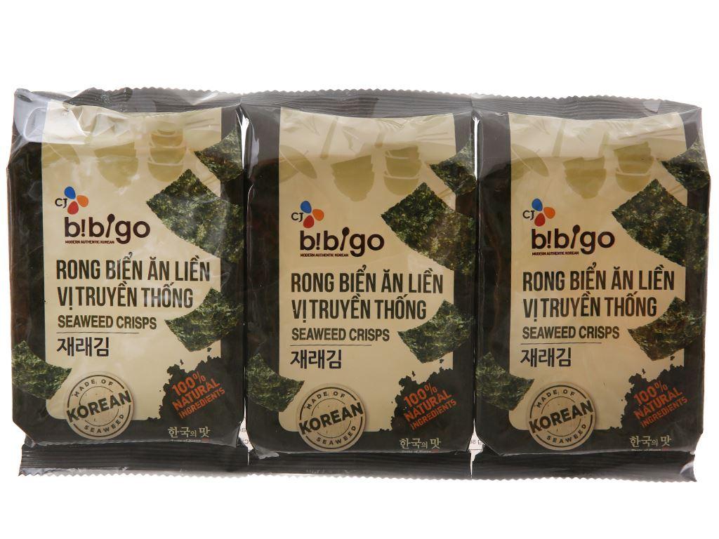 Rong biển ăn liền Bibigo vị truyền thống 3 gói 5g 2