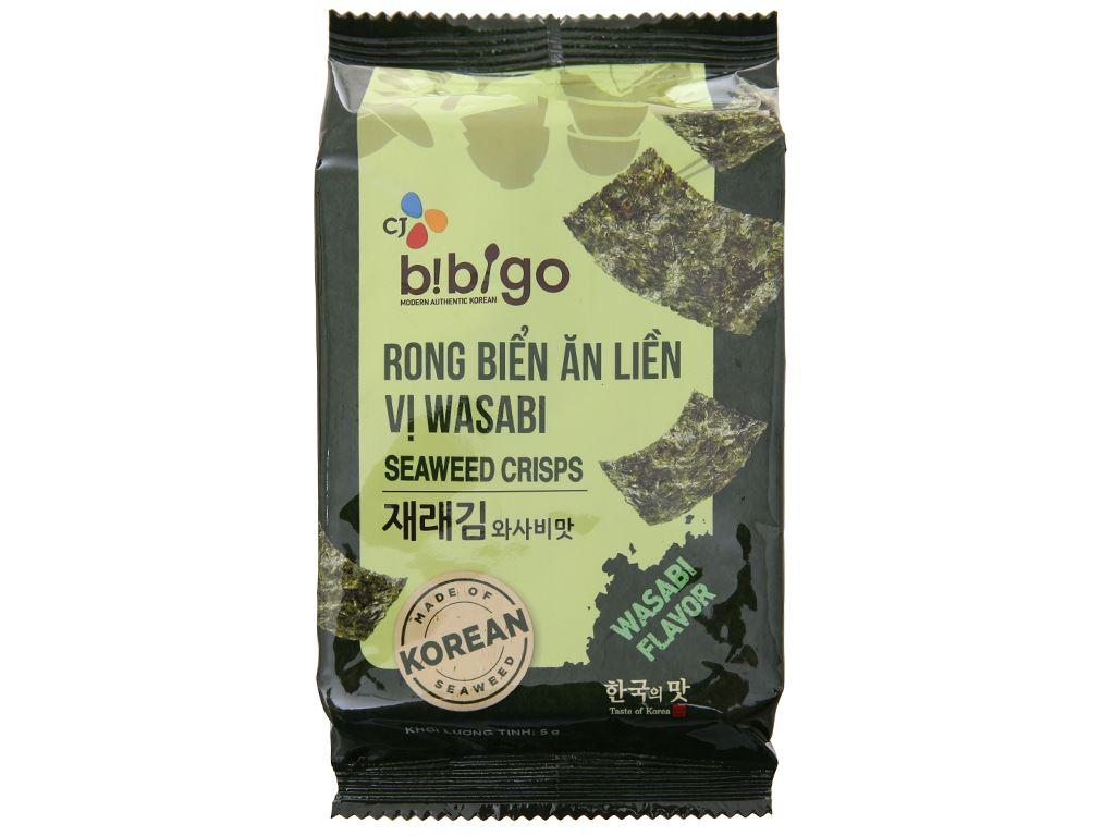 Rong biển ăn liền Bibigo vị wasabi 3 gói 5g 3
