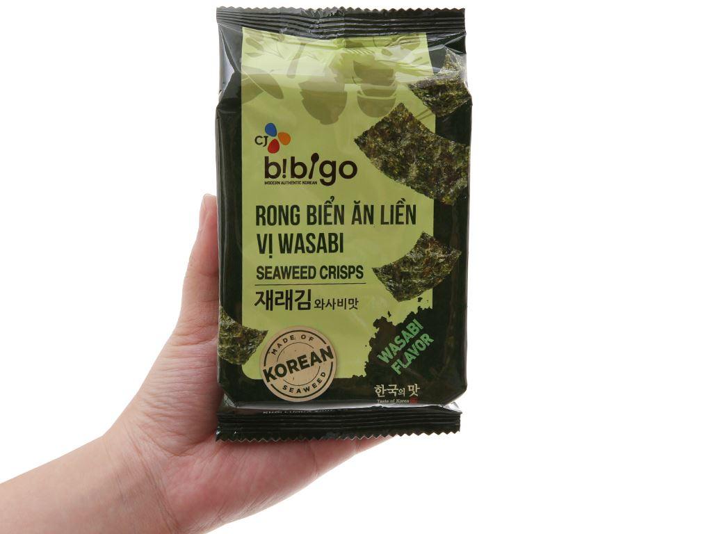 Rong biển ăn liền Bibigo vị wasabi 3 gói 5g 4