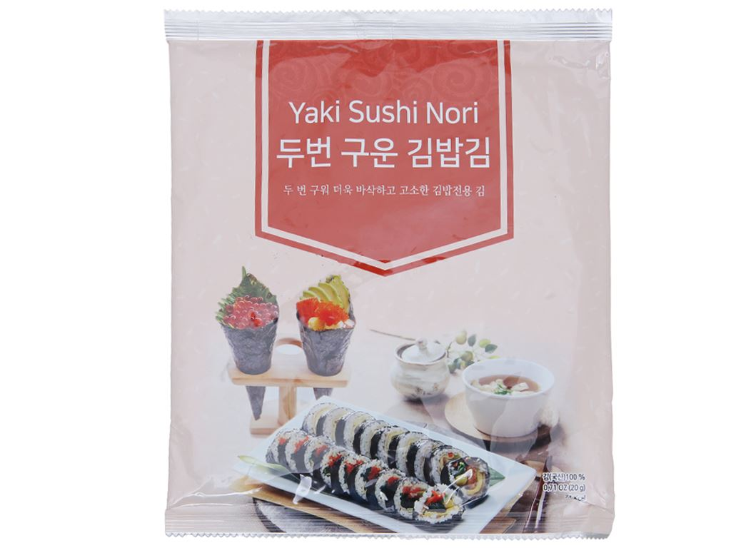 Rong biển cuộn cơm Seavege Yaki Sushi Nori 20g 1
