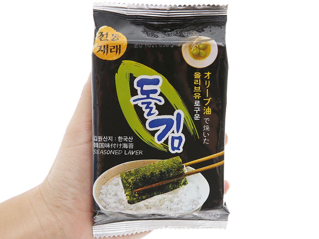 Rong biển sấy Seasoned Laver Green World 3 gói 6,5g 2