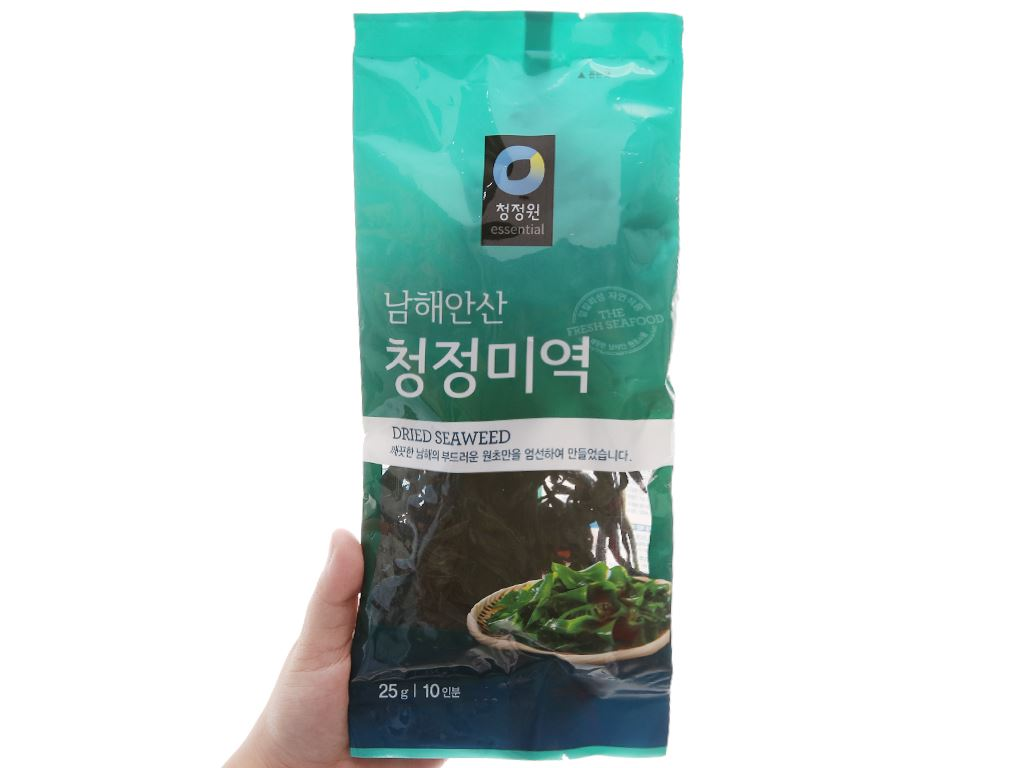 Rong biển nấu canh Chung Jung One 25g 3