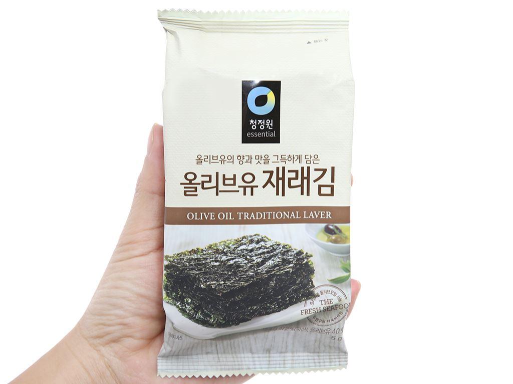 Rong biển tẩm dầu oliu Chung Jung One 9 gói 5g 6