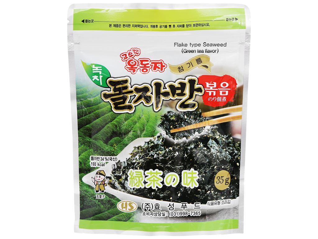 Rong biển rắc cơm Ock Dong Ja vị trà xanh gói 35g 2