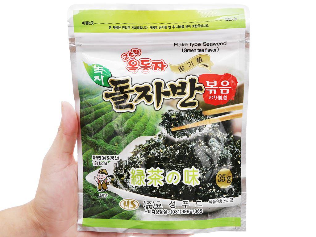 Rong biển rắc cơm Ock Dong Ja vị trà xanh gói 35g 5