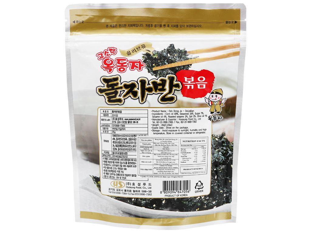 Rong biển rắc cơm Ock Dong Ja vị truyền thống gói 35g 2