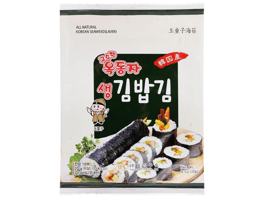 Rong biển cuộn cơm Ock Dong Ja vị truyền thống gói 20g 1