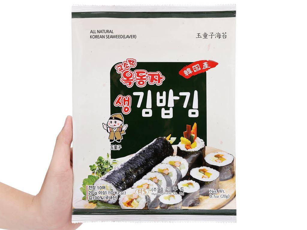 Rong biển cuộn cơm Ock Dong Ja vị truyền thống gói 20g 5