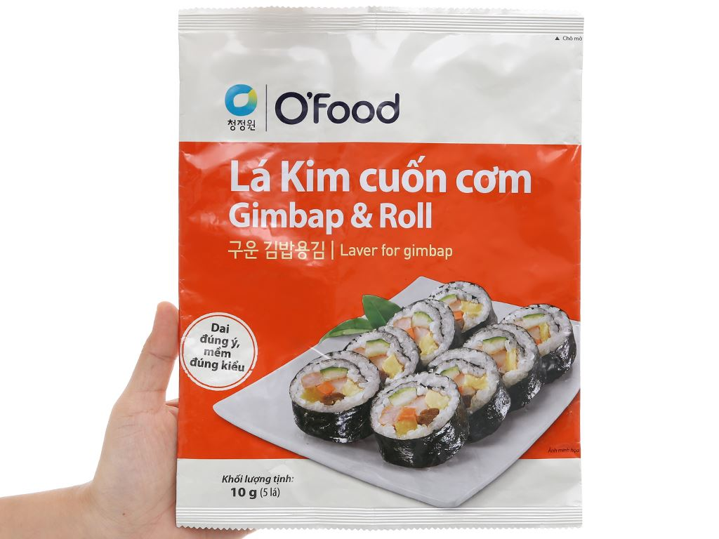 Lá kim cuộn cơm O'food gói 10g 5