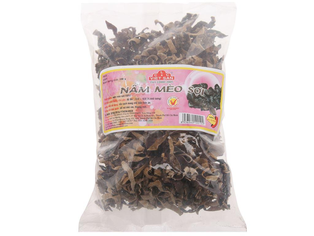 Nấm mèo đen sợi Việt San túi 100g 1