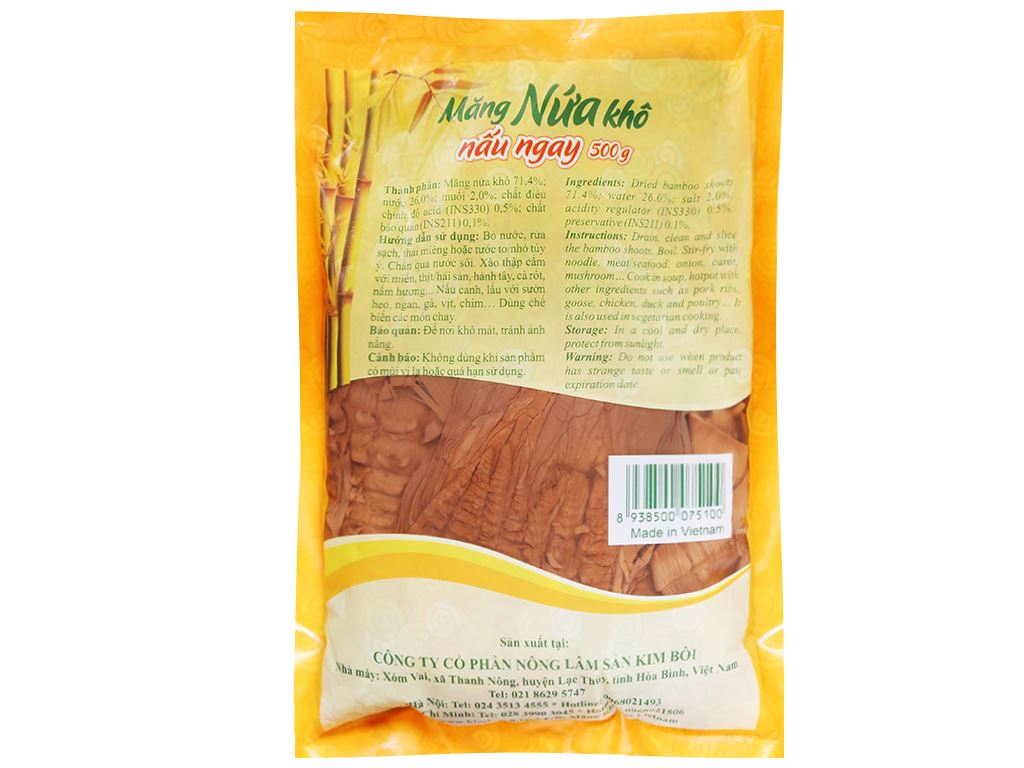 Măng nứa khô Kim Bôi gói 500g 2