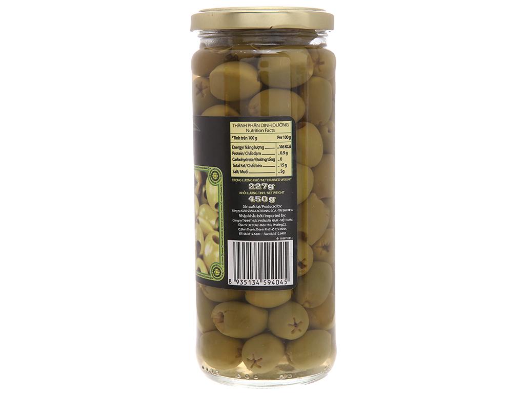 Oliu xanh tách hạt Latino Bella hũ 450g 3