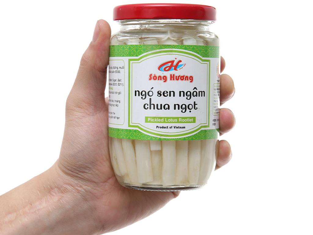 Ngó sen chua ngọt Sông Hương hũ 370g 4