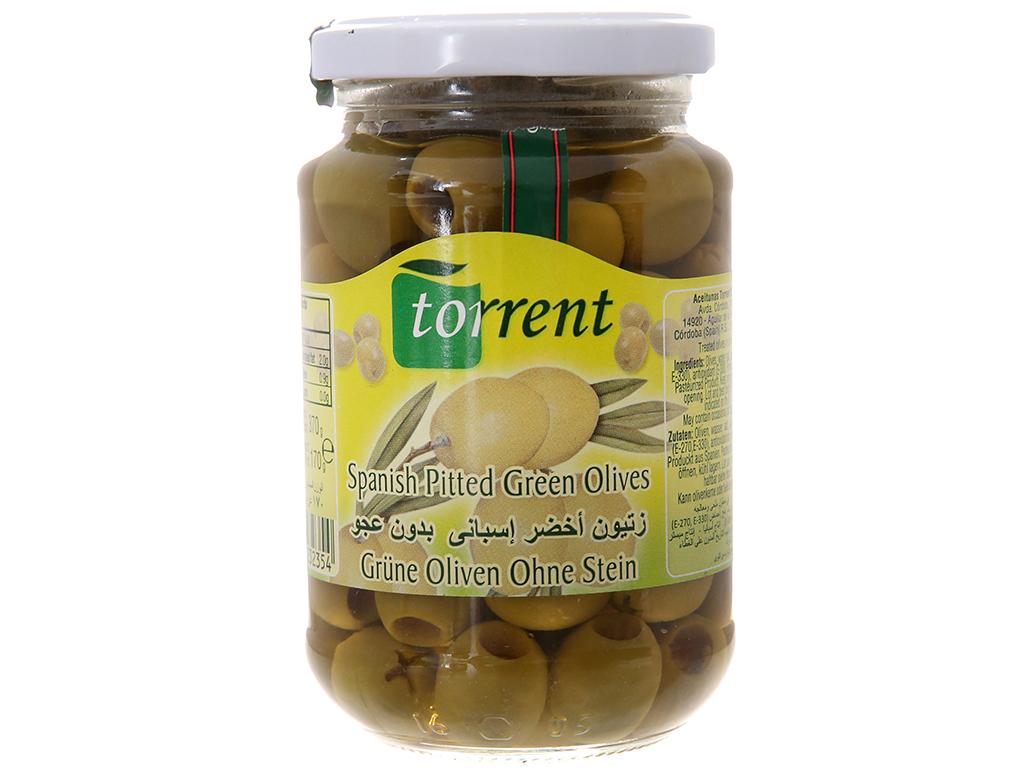 Oliu xanh tách hạt Torrent hũ 370g 1