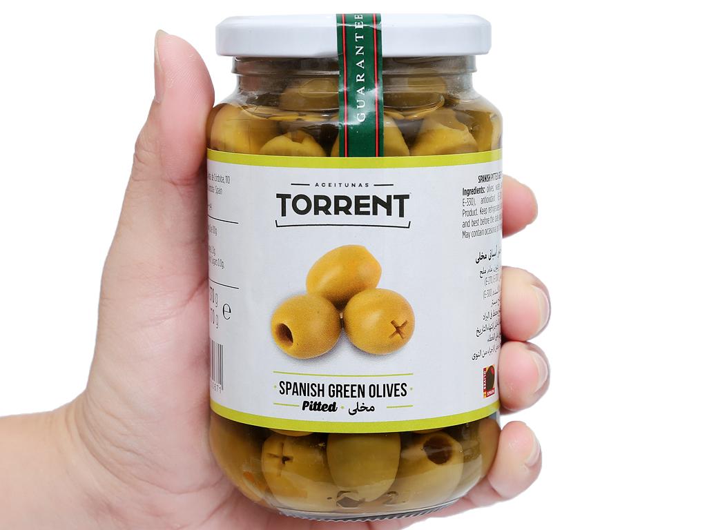 Oliu xanh tách hạt Torrent hũ 370g 4