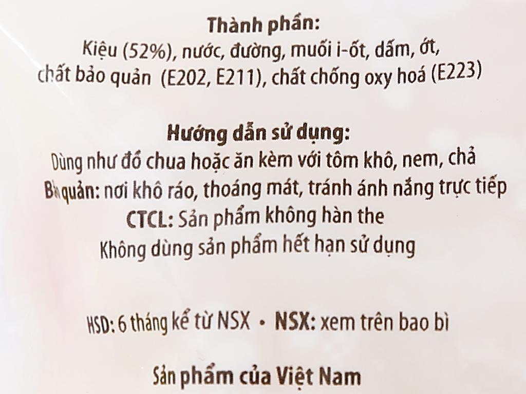 Kiệu ngâm chua ngọt Sông Hương túi 120g 3