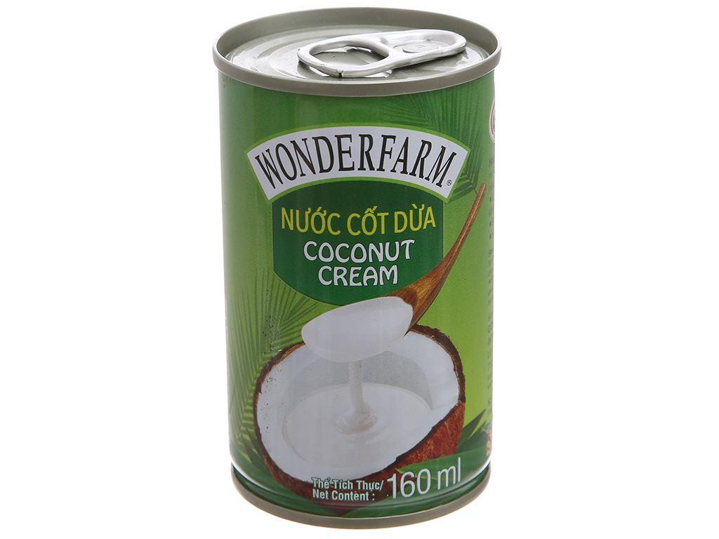 Nước cốt dừa Wonderfarm lon 160ml 2