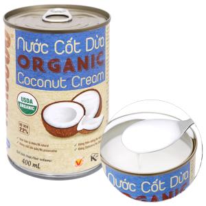 Nước cốt dừa Organic Vietcoco lon 400ml