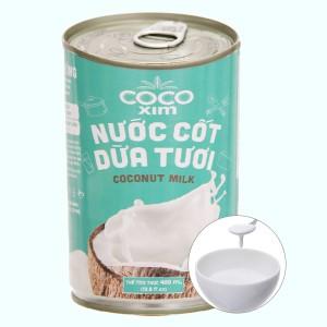 Nước cốt dừa tươi Cocoxim lon 400ml