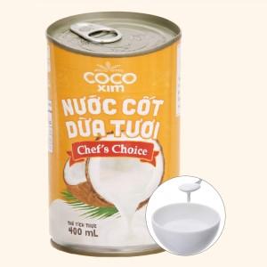 Nước cốt dừa tươi chef's choice Cocoxim lon 400ml