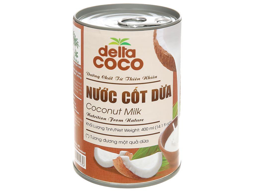 Nước cốt dừa Delta Coco lon 400ml 1