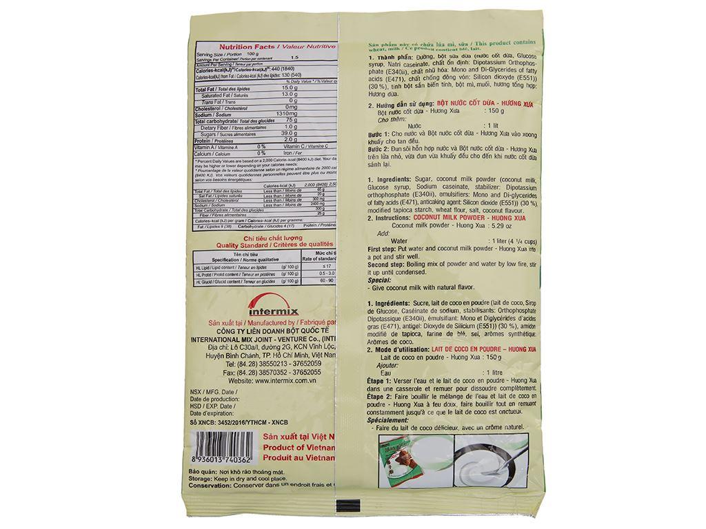 Bột nước cốt dừa Mikko gói 150g 3