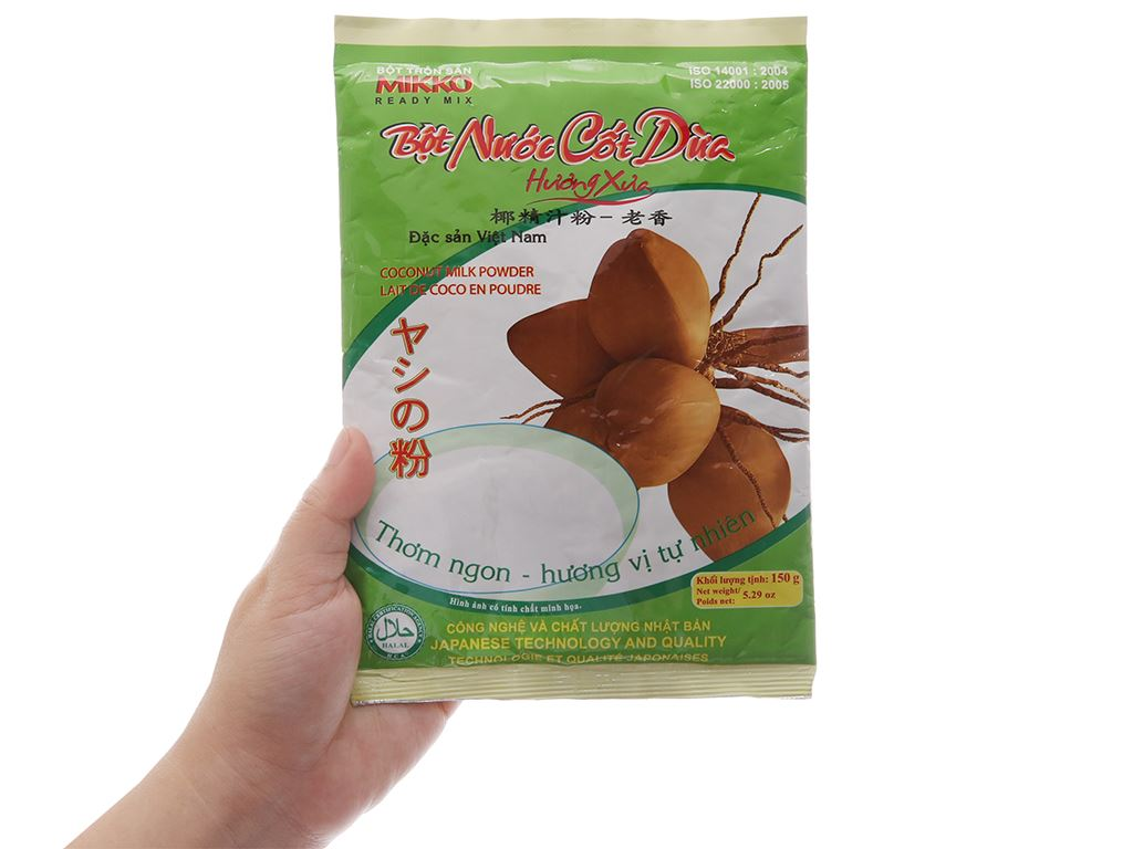 Bột nước cốt dừa Mikko gói 150g 4