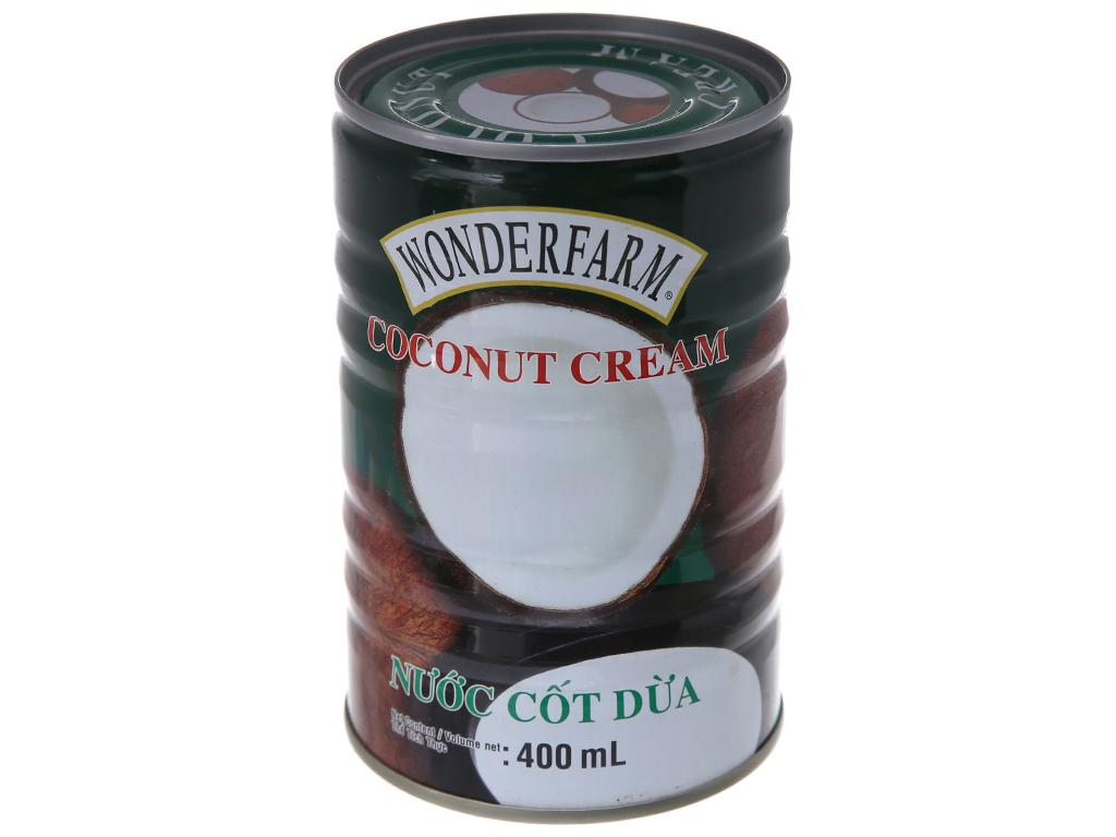 Nước cốt dừa Wonderfarm lon 400ml 2