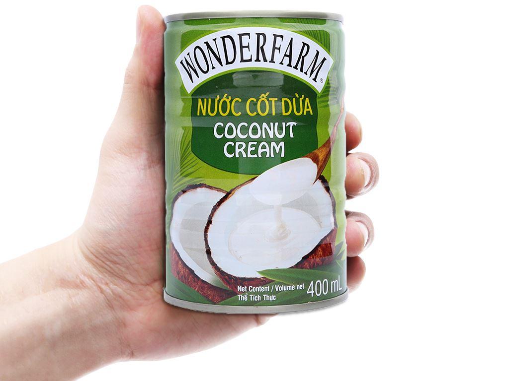 Nước cốt dừa Wonderfarm lon 400ml 3