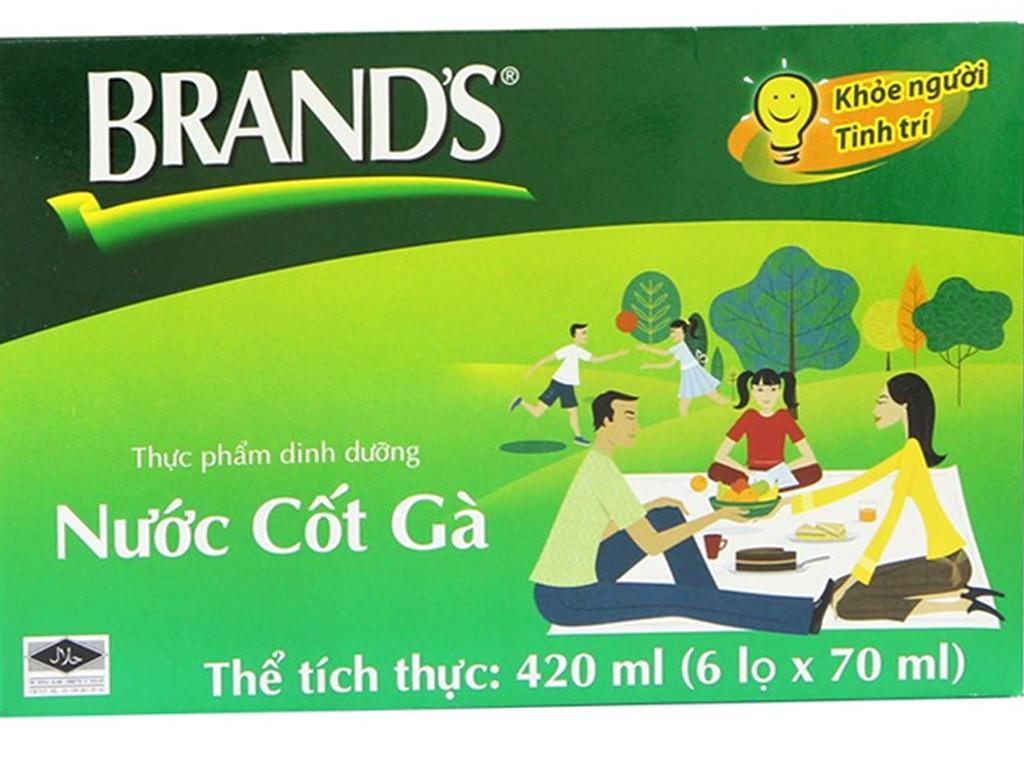 Nước cốt gà Brand's hộp 6 lọ 70ml 1