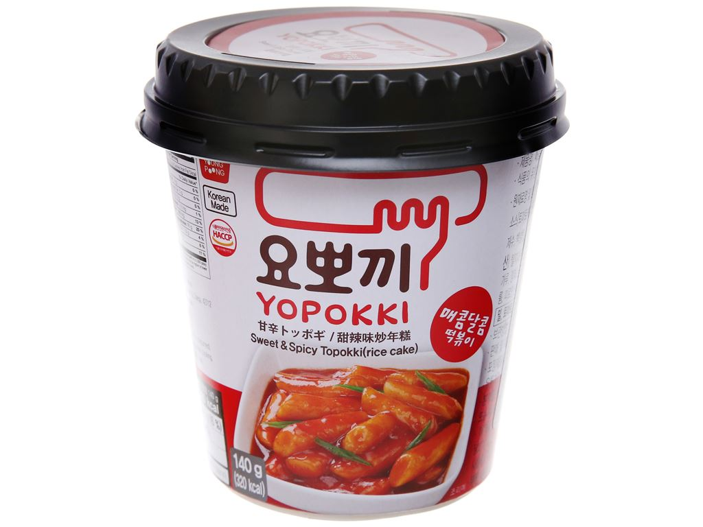 Bánh gạo tokbokki ăn liền Yopokki cay ngọt ly 140g 2