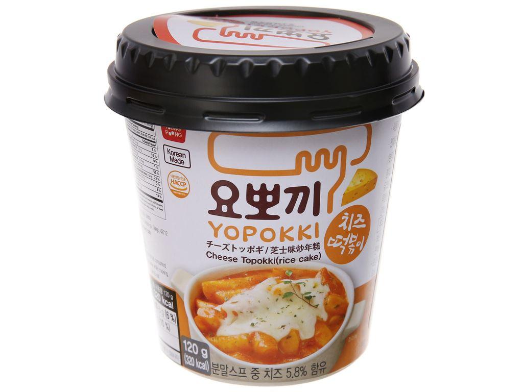 Bánh gạo tokbokki ăn liền Yopokki phô mai ly 120g 2
