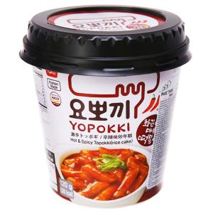 Bánh gạo tokbokki ăn liền Yopokki vị siêu cay ly 120g