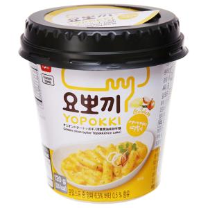 Bánh gạo tokbokki ăn liền Yopokki vị sốt bơ hành ly 120g
