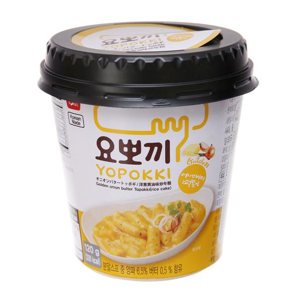 Tokbokki ăn liền Yopokki sốt bơ hành ly 120g