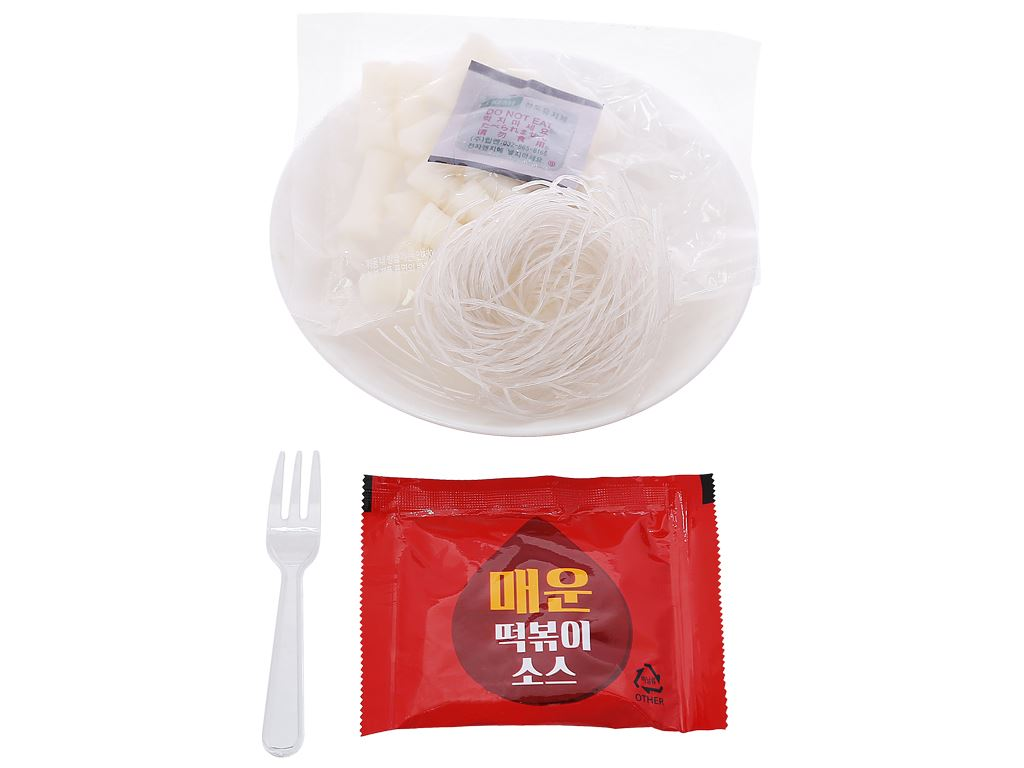 Bánh gạo topokki Otaste sốt cay tô 128g 4