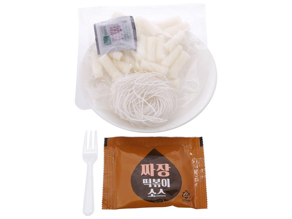 Bánh gạo topokki và miến ăn liền Otaste vị sốt jajang tô 128g 4