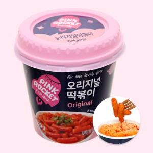 Bánh gạo Pink Rocket Topokki vị truyền thống ly 120g