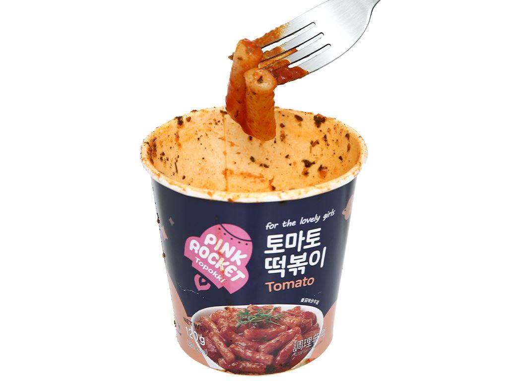 Bánh gạo Pink Rocket Topokki vị cà chua ly 120g 7