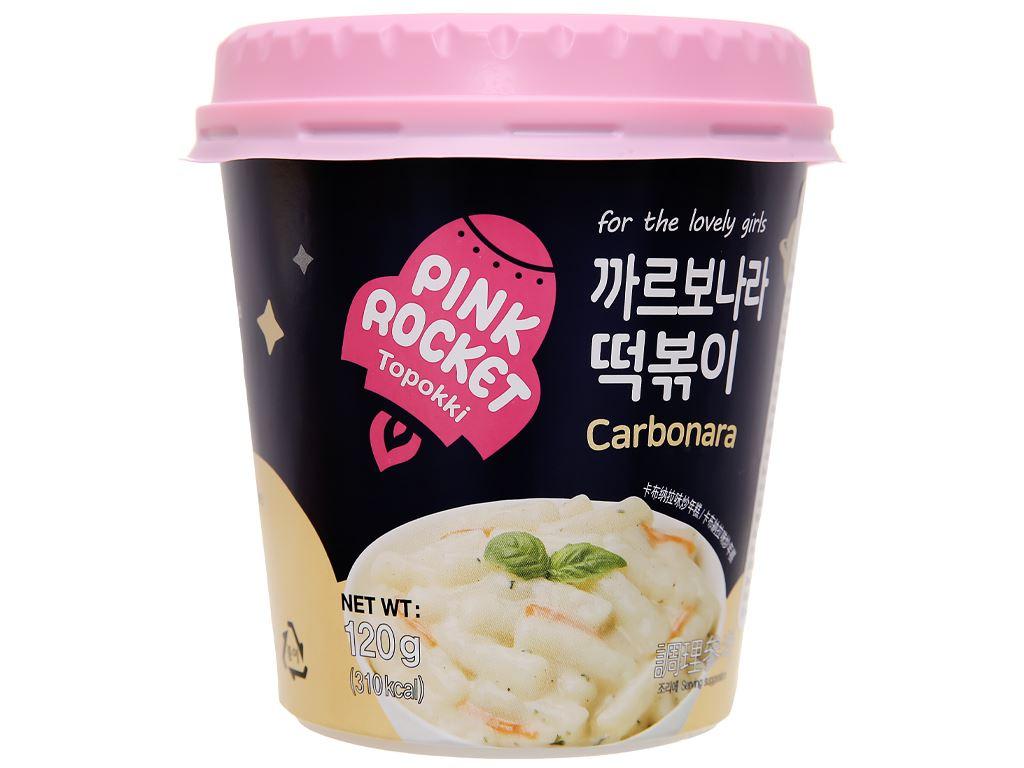 Bánh gạo Pink Rocket Topokki vị phô mai ly 120g 1