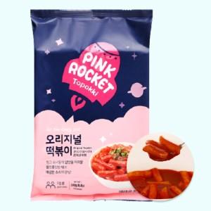 Bánh gạo Pink Rocket Topokki vị truyền thống gói 240g