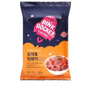 Bánh gạo Pink Rocket Topokki vị cà chua gói 240g