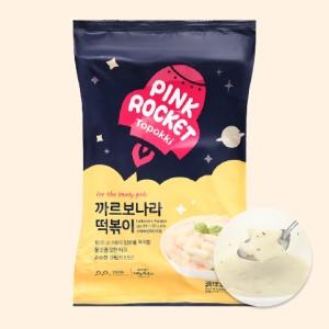 Bánh gạo Pink Rocket Topokki vị phô mai gói 240g