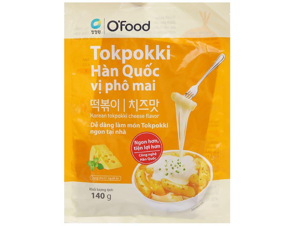 Bánh gạo topokki O'food vị phô mai gói 140g 1