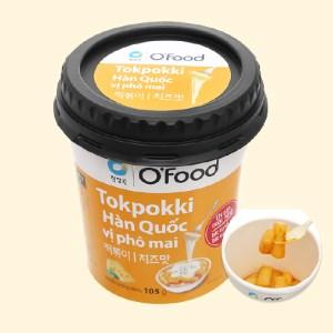 Bánh gạo tokbokki O'food vị phô mai ly 105g