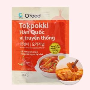 Bánh gạo topokki O'food vị truyền thống gói 140g