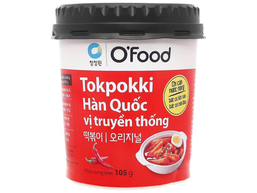 Bánh gạo tokbokki O'food vị truyền thống ly 105g 1