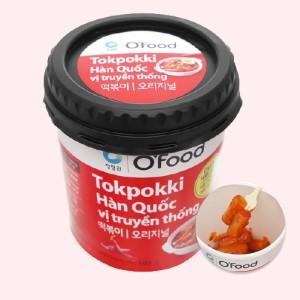 Bánh gạo tokbokki O'food vị truyền thống ly 105g