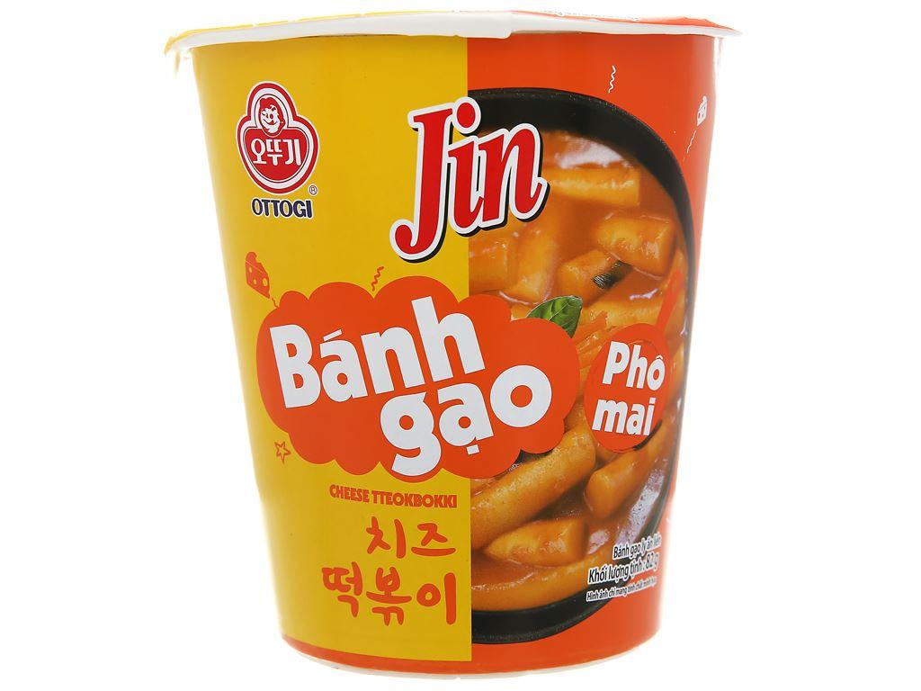 Bánh gạo tokbokki Ottogi Jin vị phô mai ly 82g 2