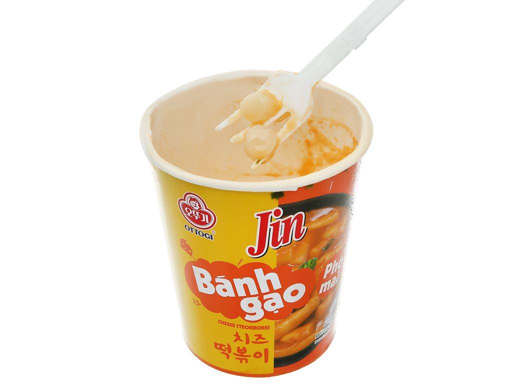 Bánh gạo tokbokki Ottogi Jin vị phô mai ly 82g 8